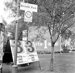 Plakat från ATP-striden. Linje 3 (Högerpartiets, Folkpartiet