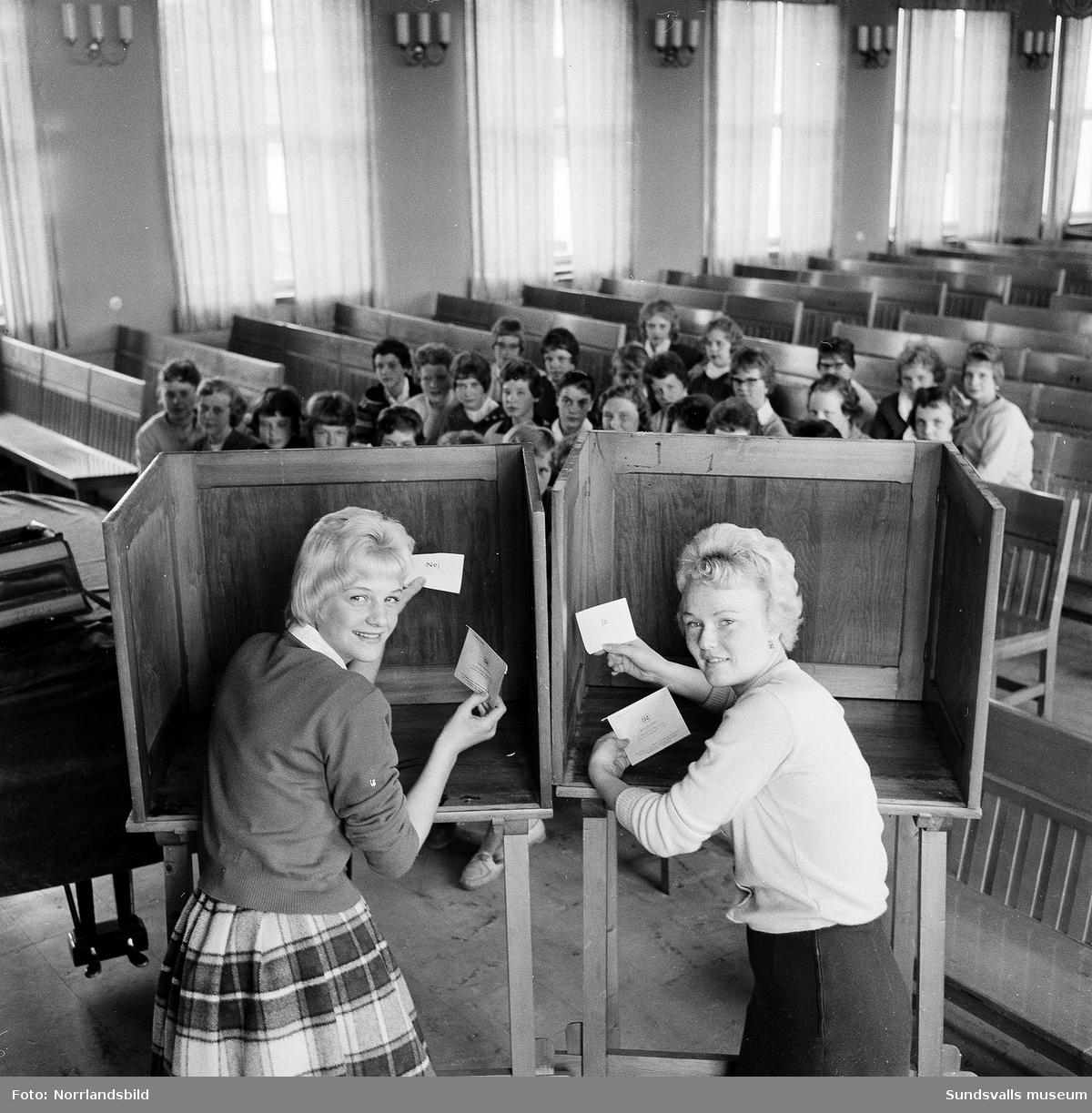 Klass åtta i Timrå går till val. Skollediga lördagar eller inte?