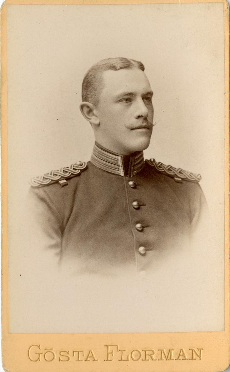Porträtt av Fredrik Wilhelm Löwenborg, kapten vid Karlskrona grenadjärregemente I 7.