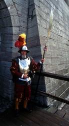 Slottsvakt vid renässansdagarna.