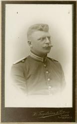 Porträtt av Gustaf Adolf Mannberg, löjtnant vid Norrbottens