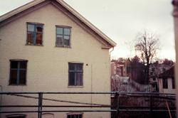 Gaveln på byggnaden gamla Sveaborg, Kvarnfallet 27, Forsåker