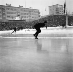 "Vardens arkiv. ""Skøytelandskamp Sovjet-Norge, Bislett""  13-1"