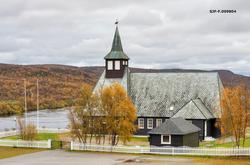 Masi (Máze) kirke i Kautokeino (Guovdageainnu) kommune i Fin