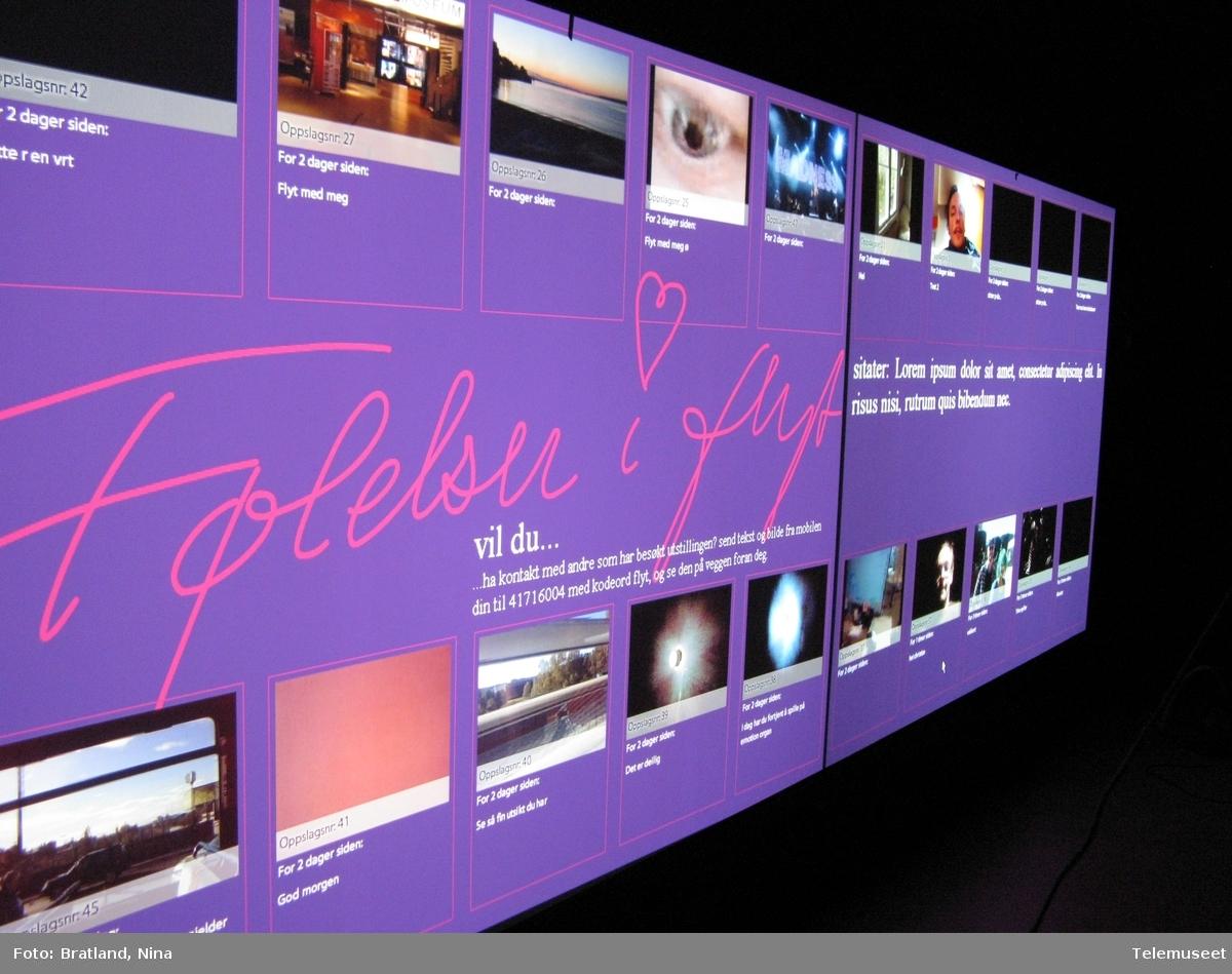 Bygging av utstillingen Følelser i flyt