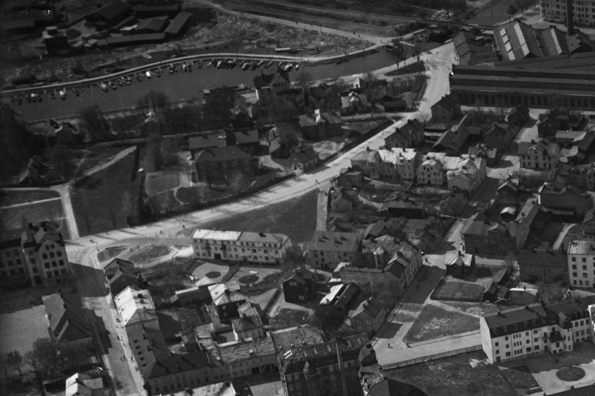 Panorama över Karlstad 1935. Herrhagen från öster. Bilden är en delförstoring.