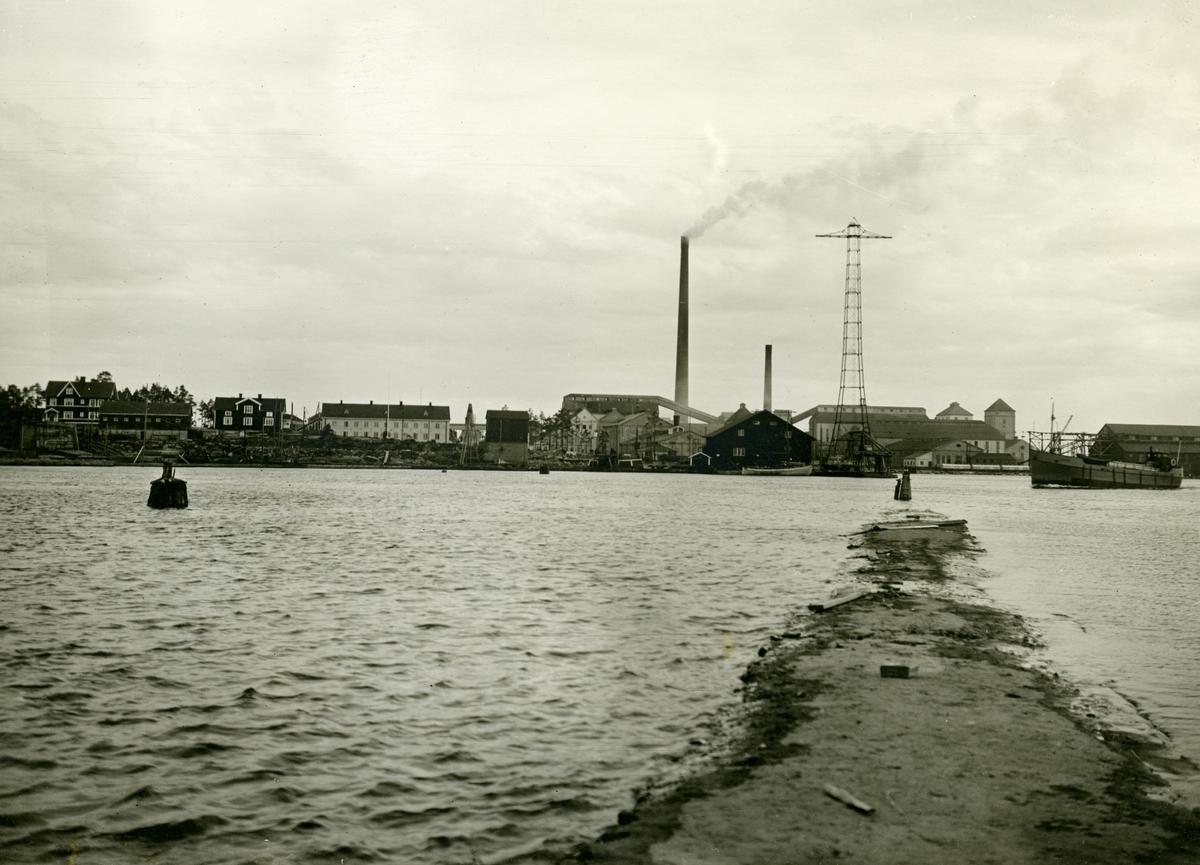Skoghallsverken: Fabriksområdet från norr
