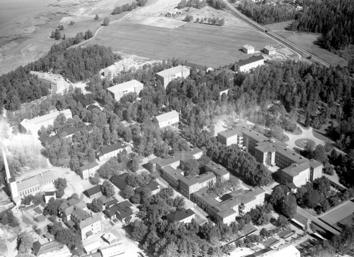 Värmland från luften 1956: Kristinehamn, Mariebergs sjukhus