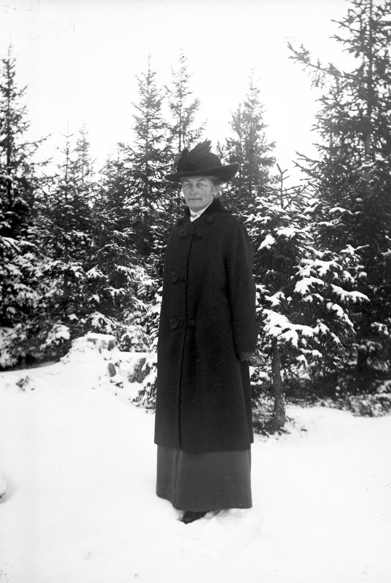 I vinterskogen. Tidsomfånget är 1900 - 1940
