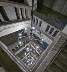 Lysekrone i Telegrafbygningen i Kongensgate 21, Oslo