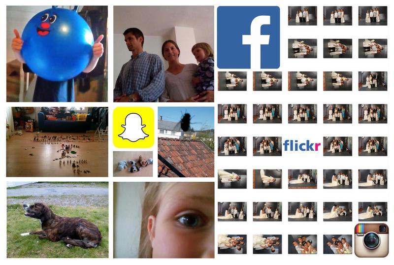 Collage, forside rapport om innsamling digitalt fødte foto (Foto/Photo)