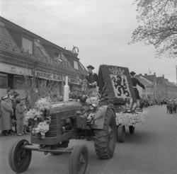 Linnéfestligheterna, 22/5-23/5 1957. Parad på Storgatan med