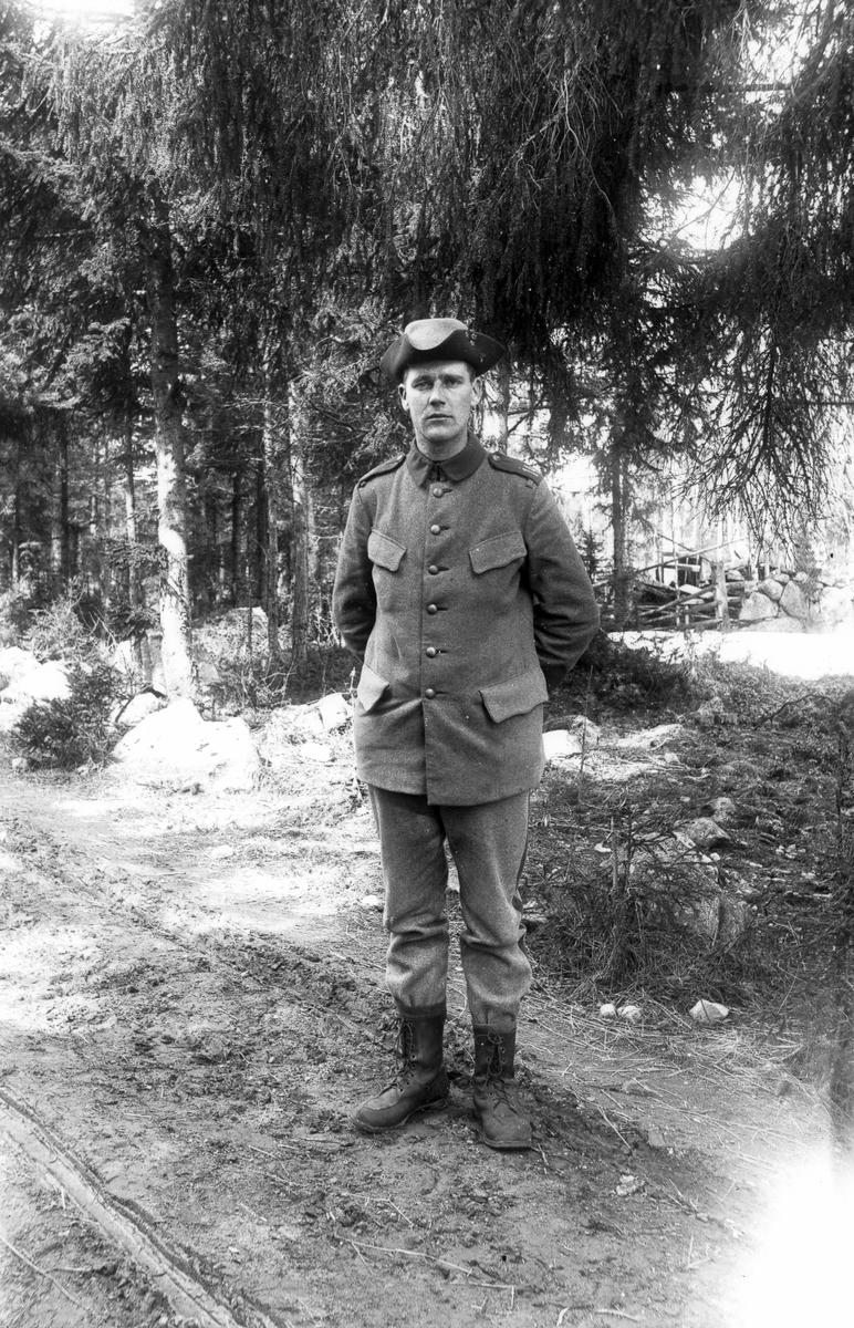 Okänd soldat i Lenninge under första världskriget.