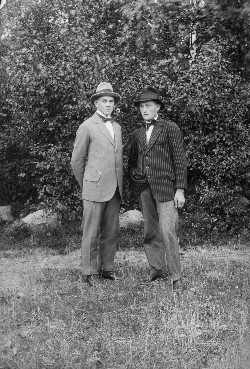 Från vänster John och Seth Johansson.