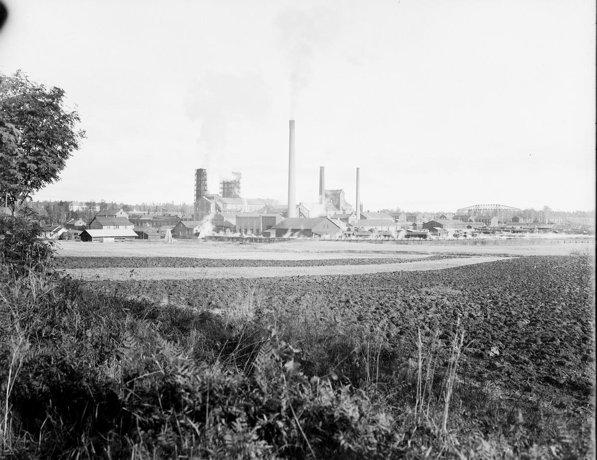 Hammarby Sulfitfabrik. År 1886 kom en sulfitfabrik att ersätta järnbruket. Den var under en tid Skandinaviens största med över 400 personer anställda.