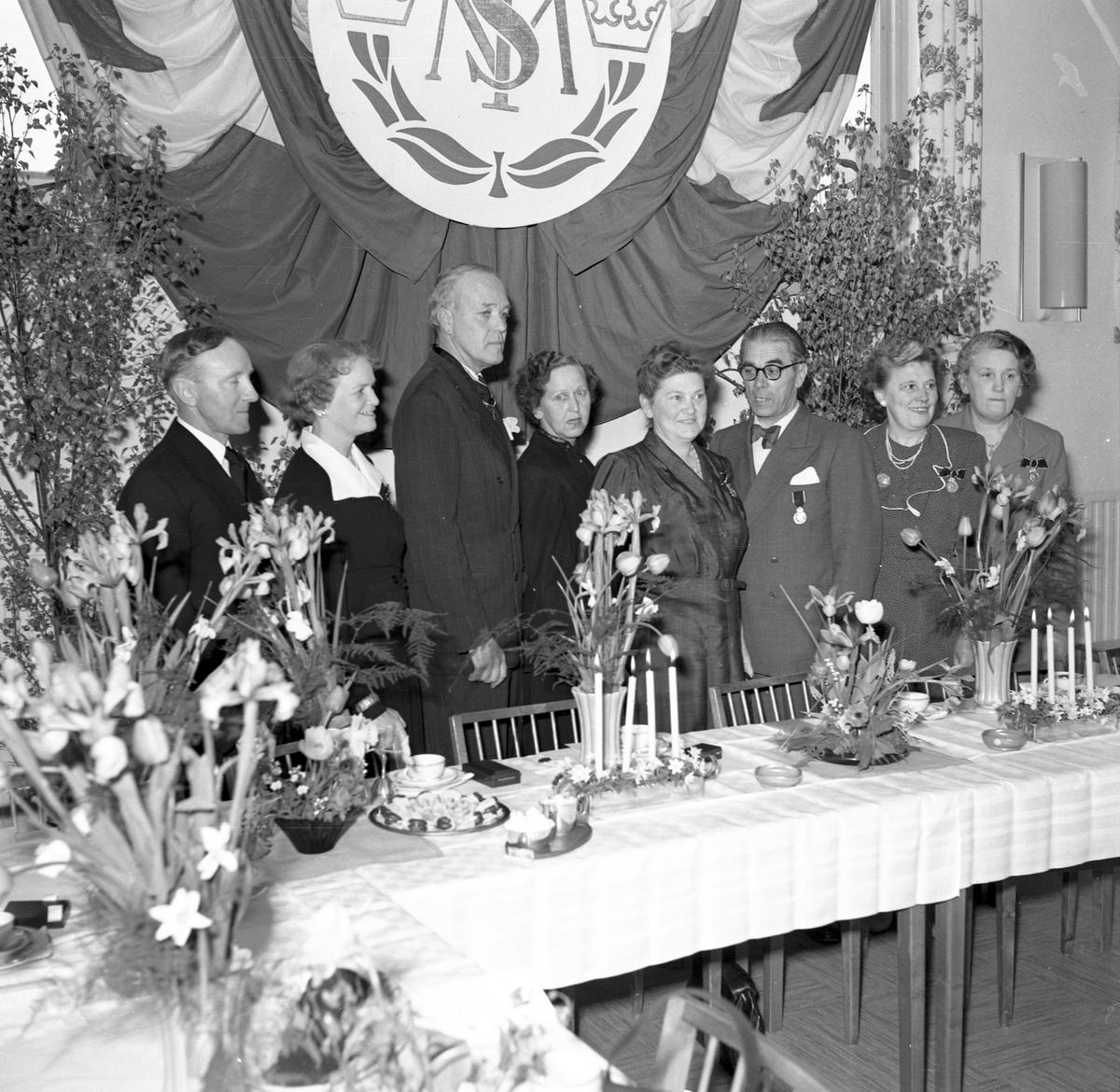 Tobaksmonopolet, medaljutdelning. Maj 1952.