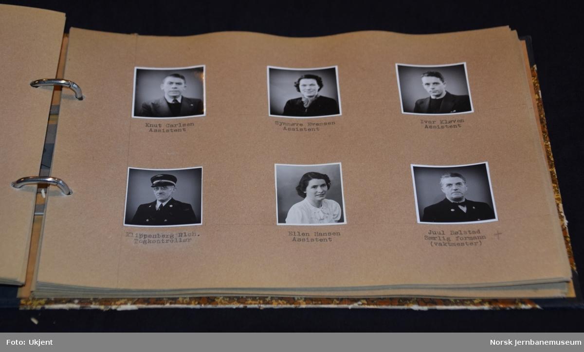 Personalbilder fra NSB Drammen distrikt