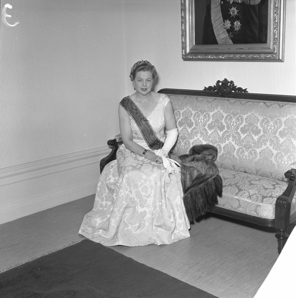 Landshövdinskan, fru Lingman. 10 november 1956.