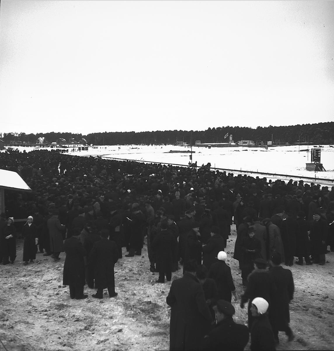 År 1937. Gefle-Dala Travbana. Publik. Reportage för Gefle Dagblad