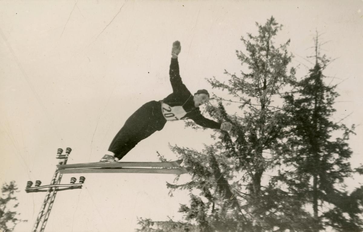 Kongsberg athlete Ole Ulland in action