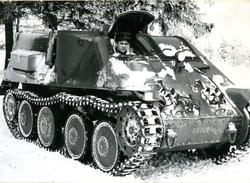 Pansarbandvagn 301. Vinterbild. Furir Harrius, A 6.
