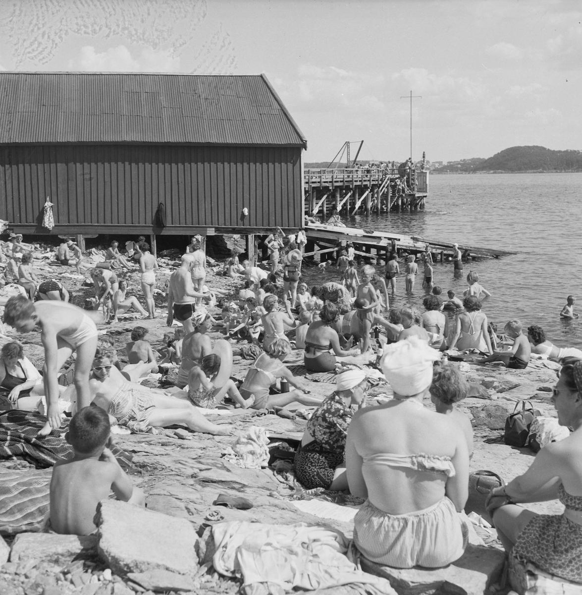 Badeliv på Munkholmen