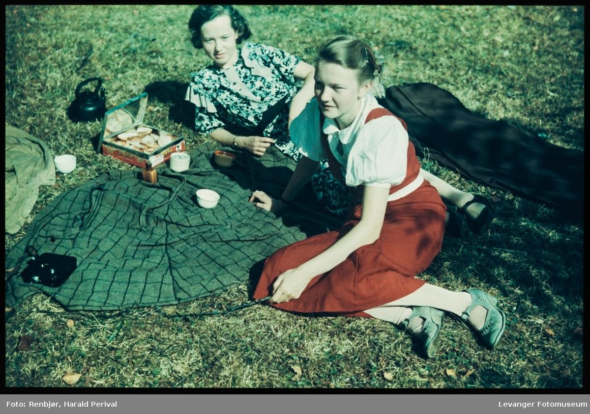 To kvinner på picnic.