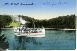 """MS, """"St.Olaf"""", Snaasenvandet."""