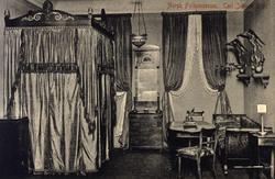 Postkort. Interiør, Karl Johans rom. Utstilling NF.