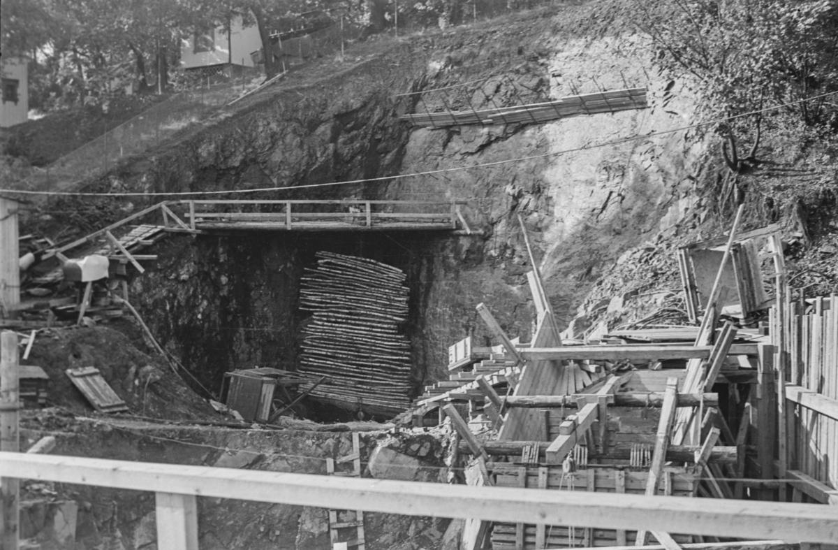 Fra omleggingen av Tryvassbanen og Røabanen ved Majorstuen.