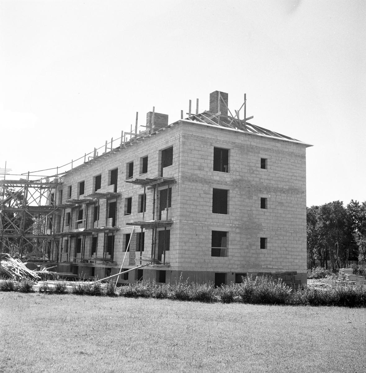 HSB-nybygge på Fredrikdalsvägen. Den 10 augusti 1949