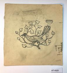 Fugl i tre [Tegning]