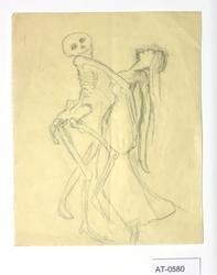 Dans med døden [Tegning]