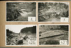 Trollhättan, dokumentation av bygget av Hojums kraftstation.