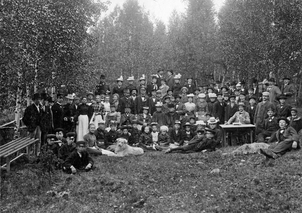 Godtemplarordens Gökotta vid Strömsborg. Sekelskifte 1800-1900.