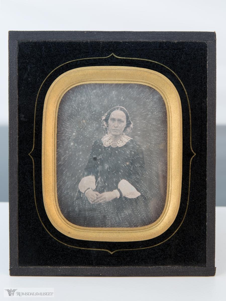 Sittende kvinne. Elise Ulriche Fritzner Wibye, gift med Hans Thiis Møller (1812-1900)