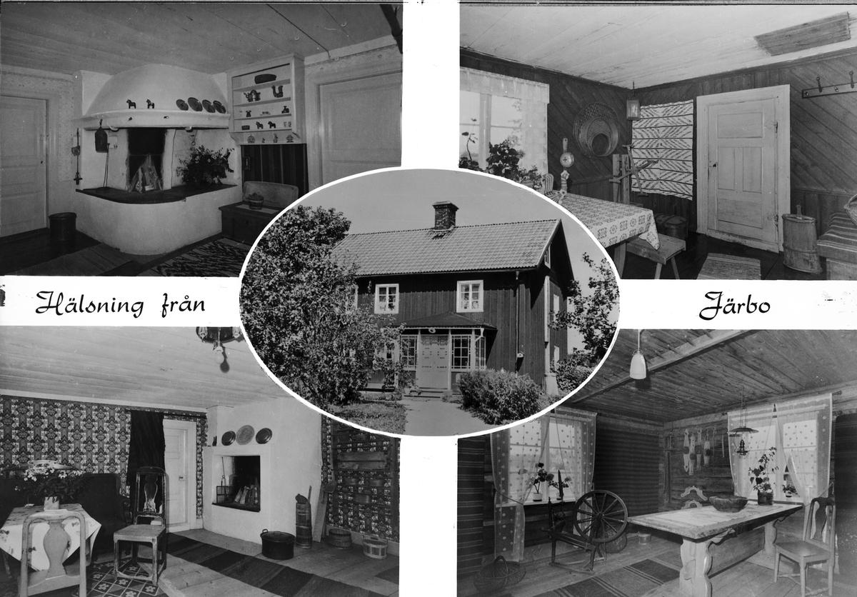 Gården Åkras, Järbo, Gästrikland. Vykort från 1965.