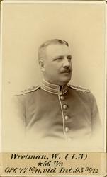 Porträtt av Waldemar Wretman, officer vid Livregementets gre