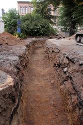 Arkeologisk schaktningsövervakning, eventuellt brandlager, k