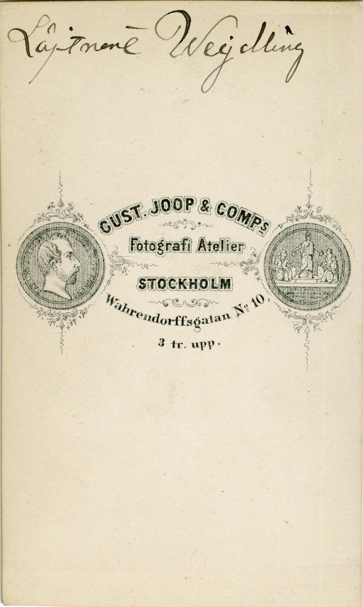 Porträtt av Carl Oscar Emil Wejdling, löjtnant vid Första livgrenadjärregementet I 4.