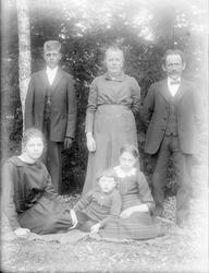 "Familjen Johanson, ""Tyra sitter vid björken, samt Karin o Er"