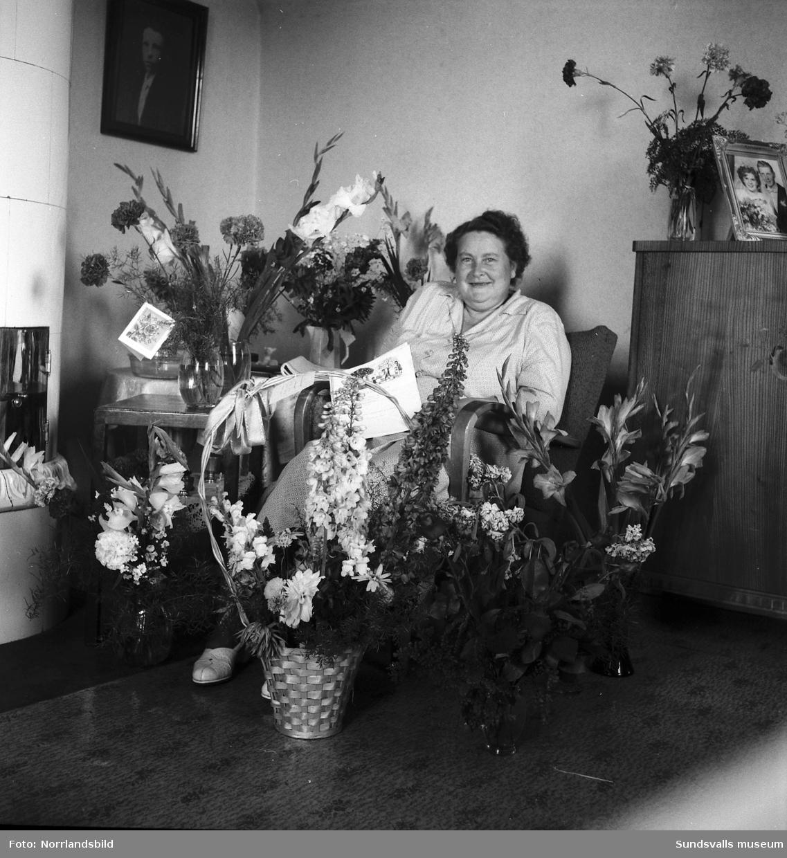 Porträtt av fru Engelbrektzen, Ortviken, på hennes 50-årsdag.