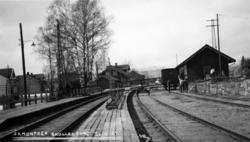 Elektrifisering Drammen-Kongsberg : åkmontasje på Skollenbor