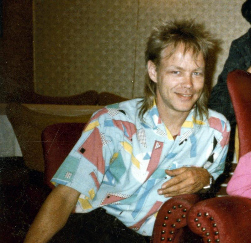 Ung mann på 80-tallet