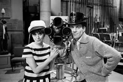 Foto från TV-inspelning med Gunnar Wiklund på Cirkus, Stockh