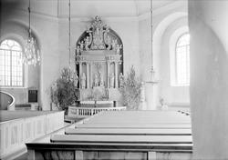 Interiör i Järlåsa kyrka, Uppland 1941