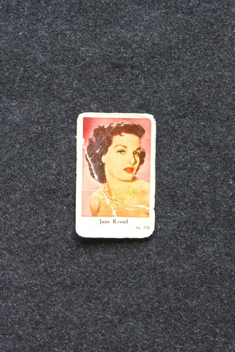 Filmstjärnebild med foto föreställande Jane Russel