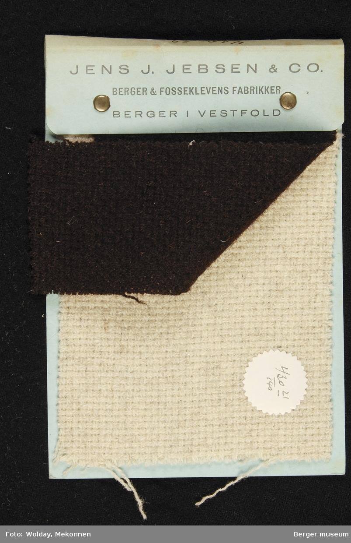 Prøvebok med 2 prøver. Drakt/kope Kvalitet 430 Stykkfarget