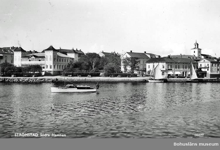 """Text på kortet:"""" Strömstad. Södra Hamnen""""."""