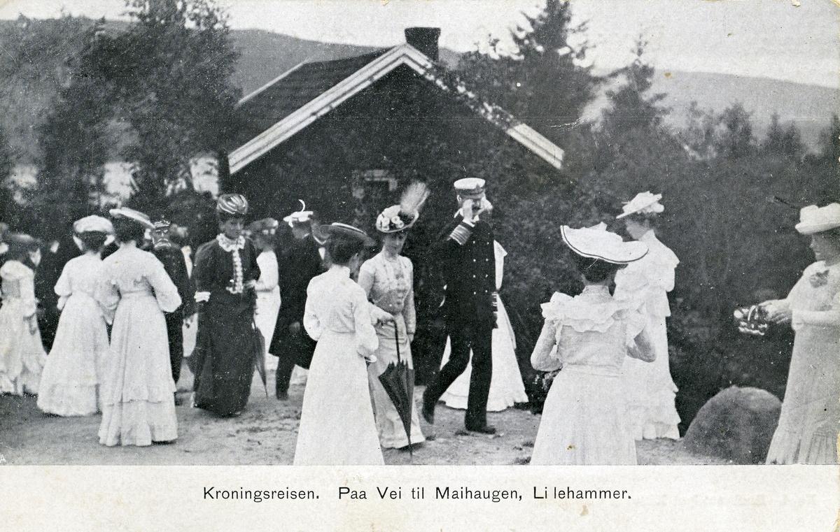 Prospektkort av Håkon 7. si kroninsgreise.